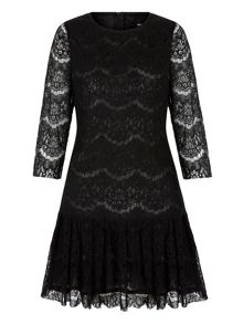 Lace Peplum Shift Dress