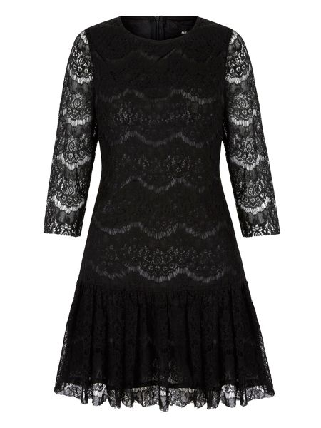 Mela London Lace Peplum Shift Dress