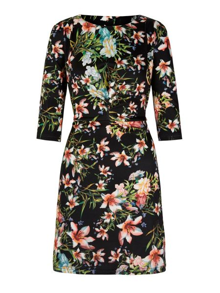 Yumi Tropical Print Shift Dress
