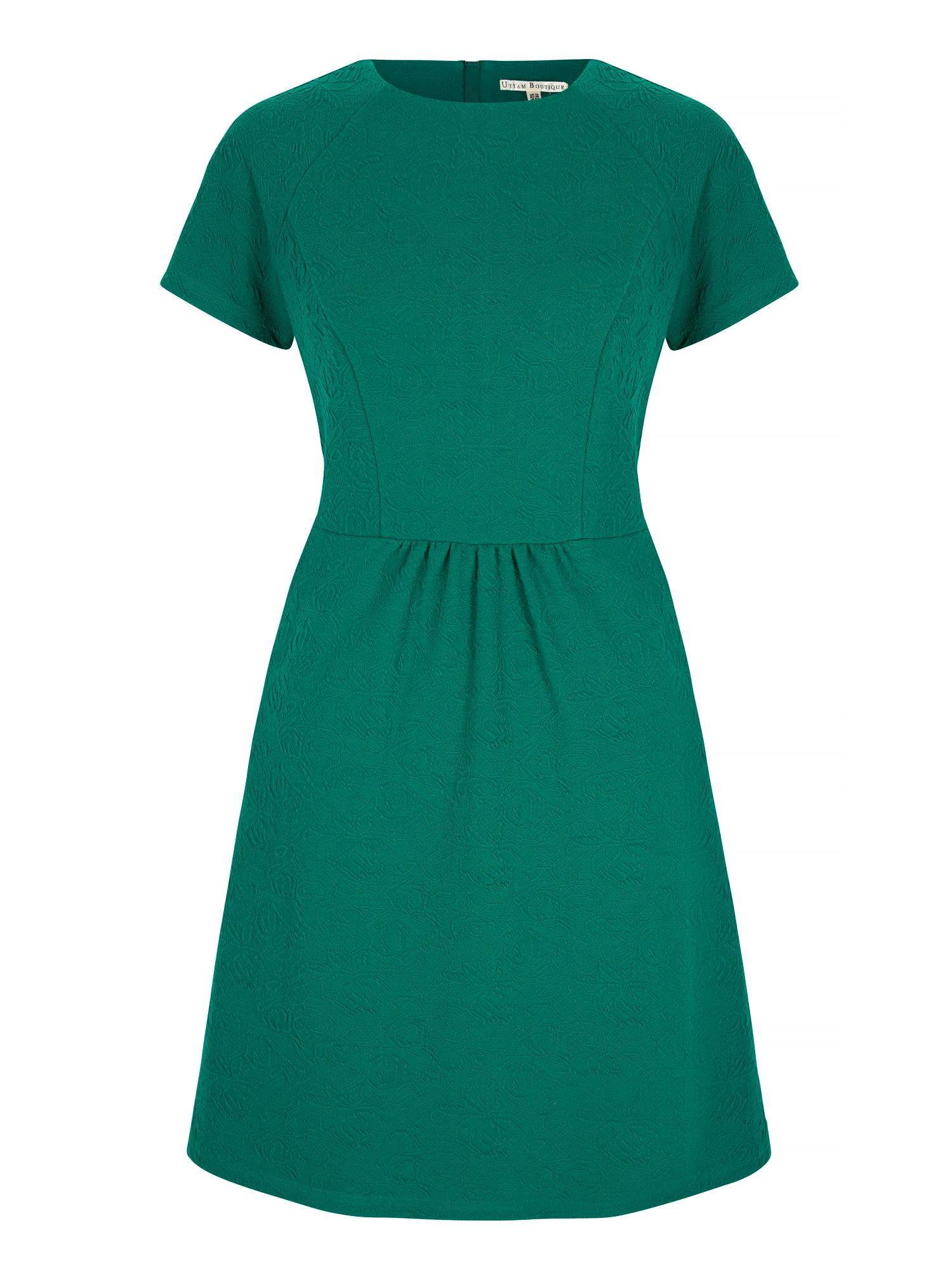 Uttam Boutique Textured Ponte Day Dress, Green