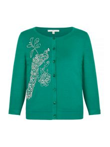 Uttam Boutique Embellished Flower Cardigan