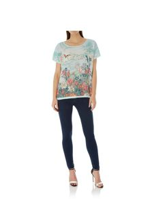 Uttam Boutique Oriental Print Tunic Top