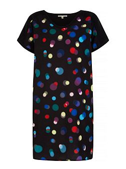 Bokeh Print Tunic Dress