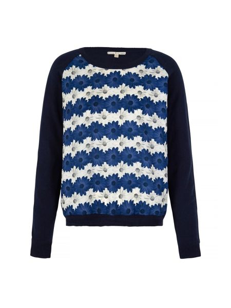 Uttam Boutique Daisy Stripe Print Jumper
