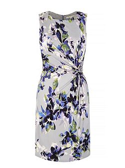 Floral Print Gathered Dress