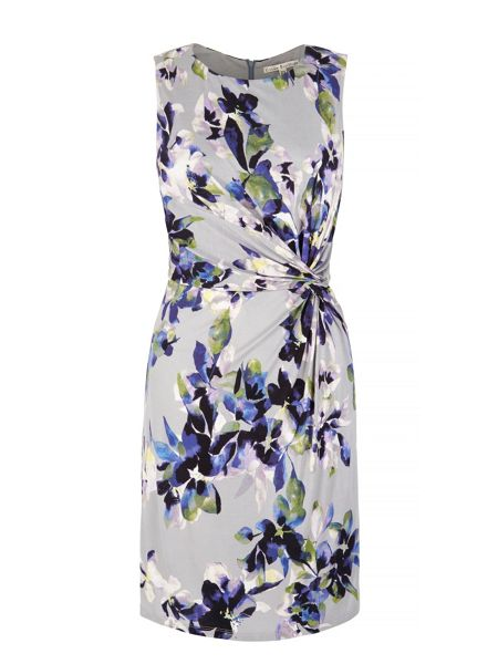 Uttam Boutique Floral Print Gathered Dress