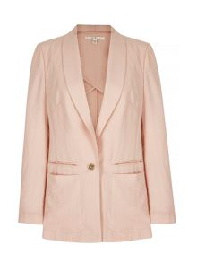 Uttam Boutique Linen Tailored Jacket
