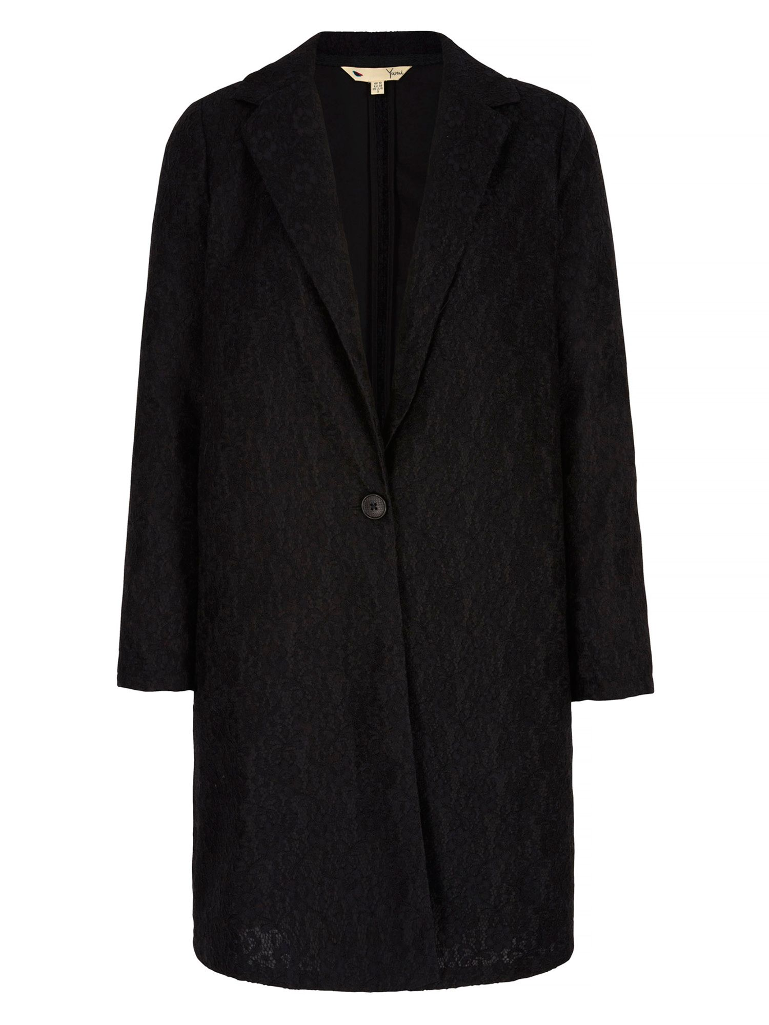 Yumi Lace Tailored Jacket, Black
