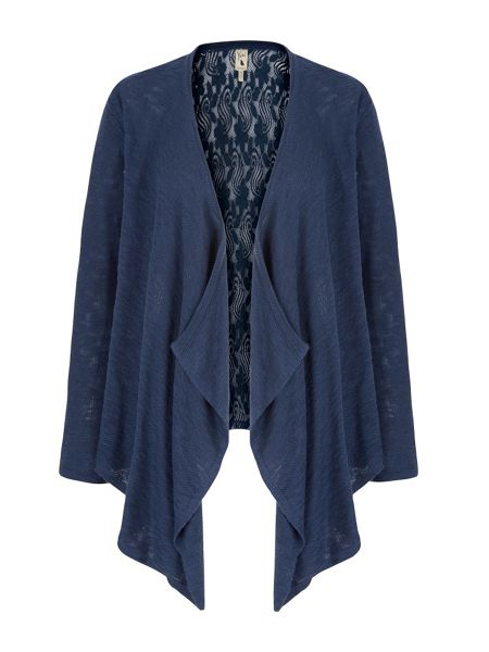 Yumi Lace Back Waterfall Cardigan