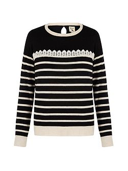 Lace Stripe Jumper
