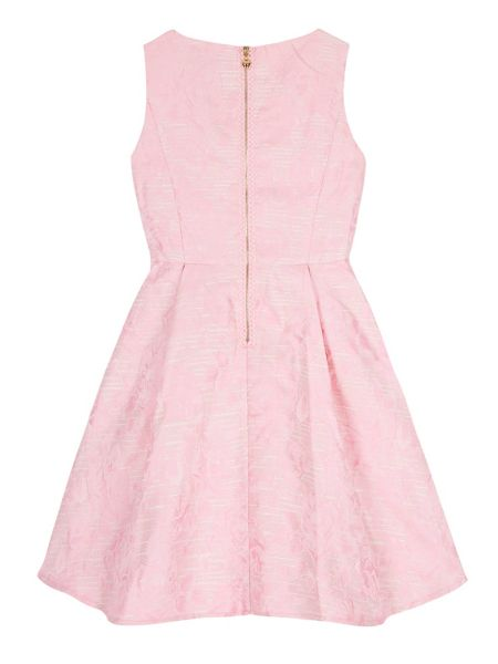 Yumi Girls Girls Metallic Floral Jacquard Dress