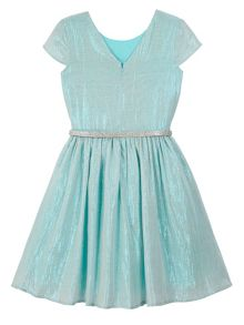 Yumi Girls Girls Metallic Embellished Prom Dress