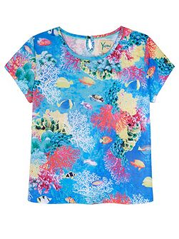 Girls Underwater Print T-Shirt