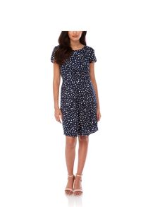 Yumi Polka Dot Gathered Day Dress