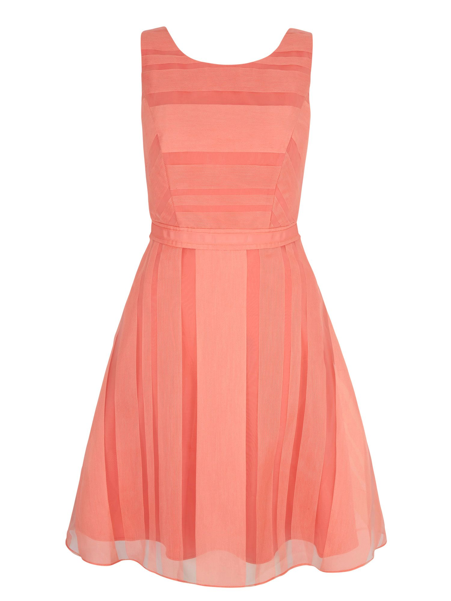 Yumi Stripe Organza Party Dress, Pink