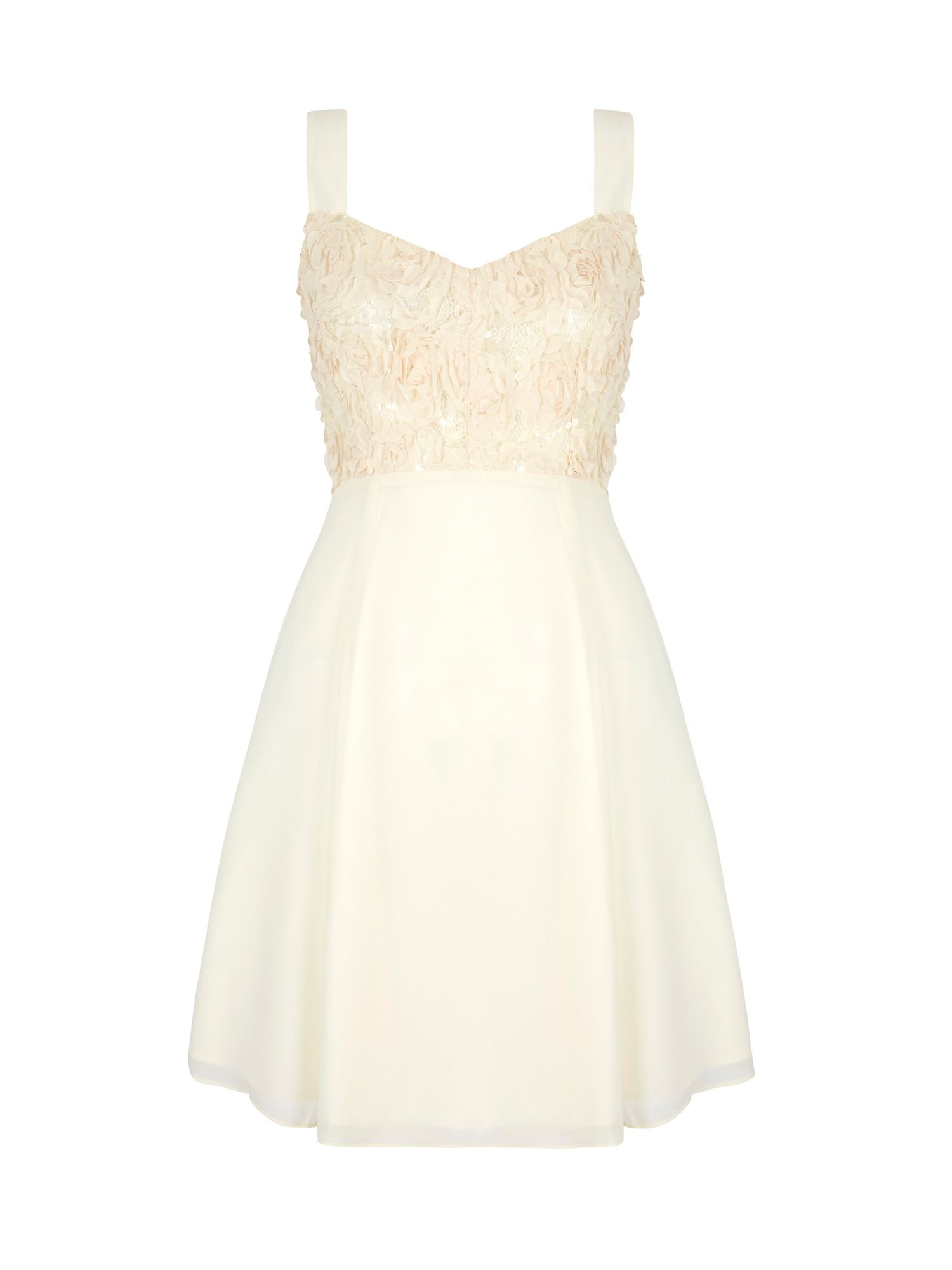 Yumi Rose Floral Swing Dress, Cream