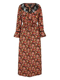 Mela Loves London 70s Tapestry Print Lace Maxi