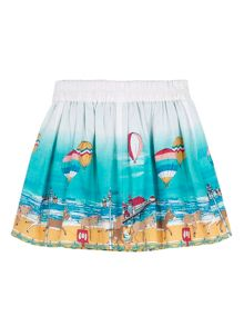 Uttam Girls Seaside Border Skater Skirt
