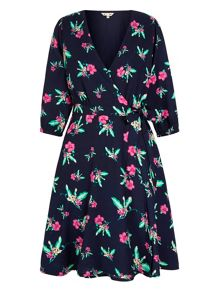 Yumi Floral Print Wrap Dress