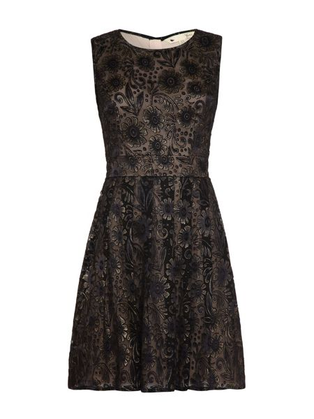 Yumi Embroidered Floral Occasion Dress