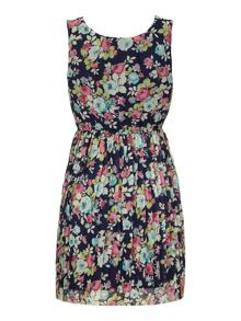 Yumi Vintage Floral Print Day Dress
