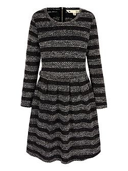 Knitted Stripe Jumper Dress