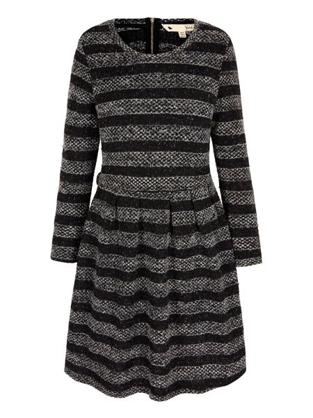 Yumi Knitted Stripe Jumper Dress
