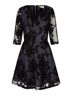 Net Lace Skater Dress