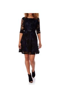 Yumi Net Lace Skater Dress
