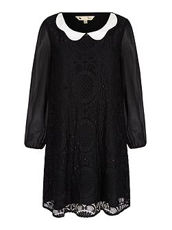 Collar Lace Tunic Dress