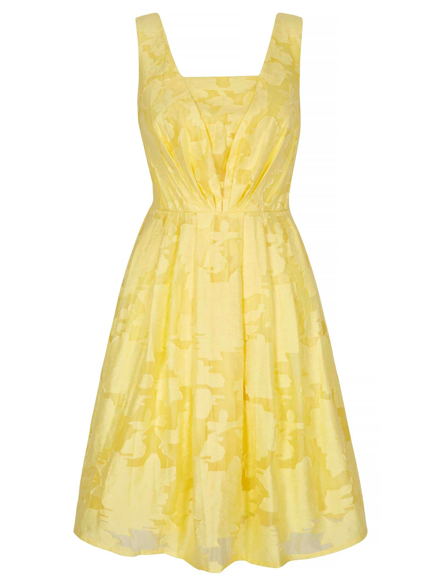 Yumi Floral Jacquard Party Dress, Yellow