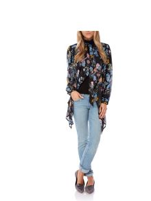 Multi Floral Print Pussybow Blouse