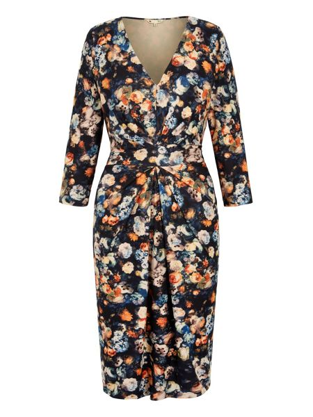 Yumi Vintage Floral Gathered Dress
