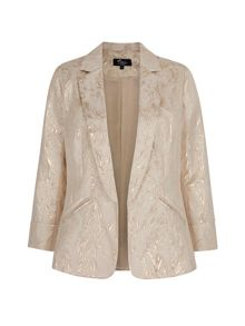 Mela Loves London Gold Jacquard Structured Blazer
