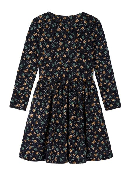 Yumi Girls Girls Floral Polka Dot Print Skater Dress