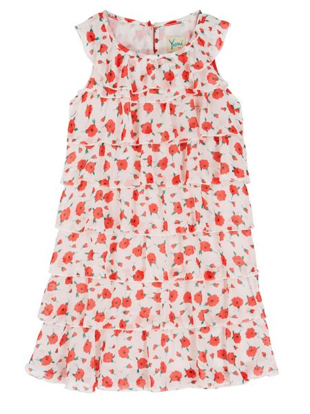 Yumi Girls Girls Floral Print Frill Dress