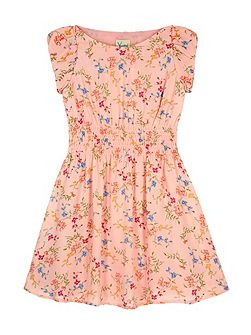 Girls Ditsy Floral Print Day Dress