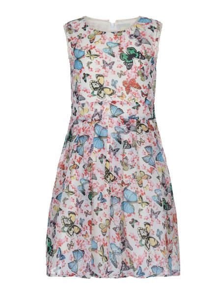 Yumi Girls Butterfly Print Day Dress