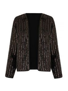 Mela London Metallic Jacket With Embellishments