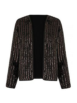 Metallic Jacket With Embellishments