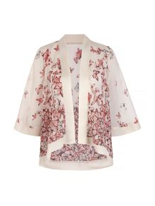 Mela Loves London Blush Butterfly Print Kimono