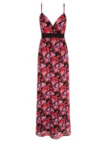 Mela Loves London Floral Print Wrap Maxi Dress
