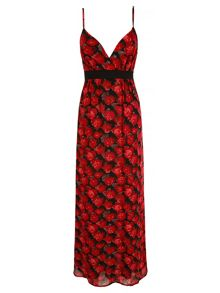 Mela Loves London Rose Print Maxi Dress