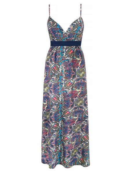 Mela London Paisley Print Strappy Maxi Dress