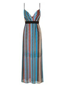 Mela Loves London Aztec Print Maxi Dress