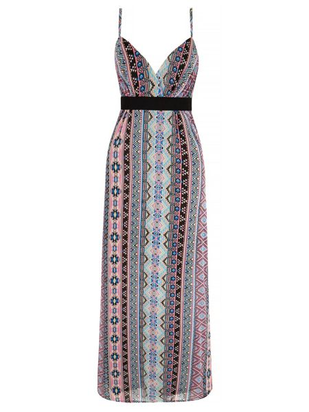 Mela London Pastel Aztec Print Maxi Dress