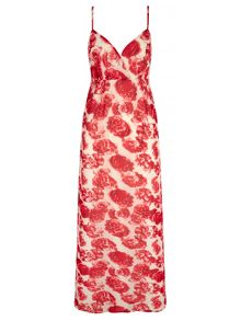 Mela London Rose Print Strappy Maxi Dress
