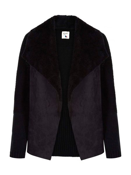 Yumi Suedette Knit Waterfall Jacket