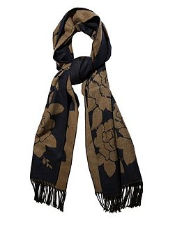 Rose Print Winter Scarf