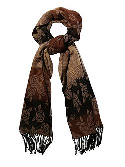 Rose Floral Print Winter Scarf